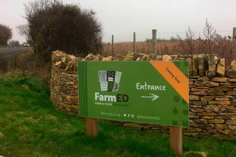 FarmEd entrance signpost