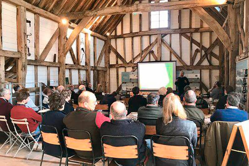Tom and Anthony presenting to the the Winchester South Downs Farm Cluster group