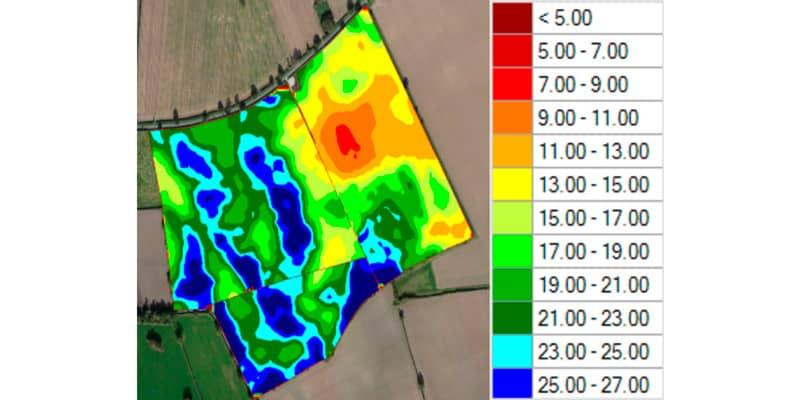 EMI soil scanning results