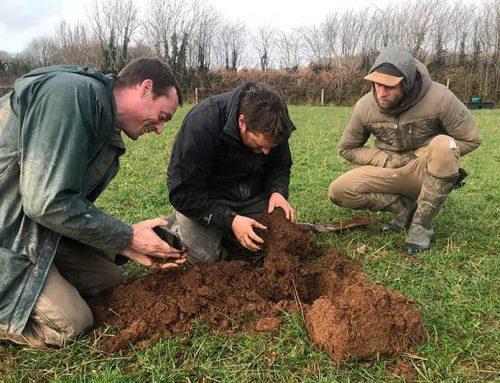 Soil scanning project at Dan Cox's Melilot at Crocadon Farm