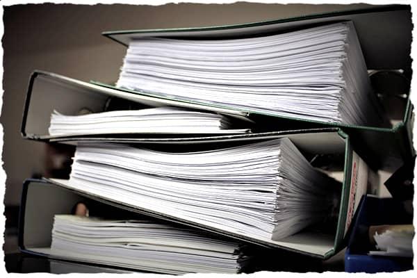 Folders containing paperwork