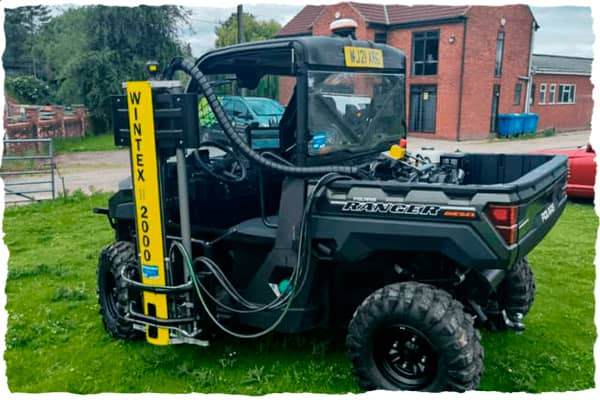Wintex 2000 soil sampler on a buggy