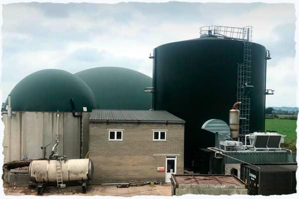 Anaerobic digestion facility on farm