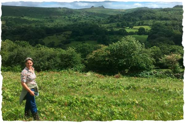 South West Farm Consultant client Cat Frampton standing in a field