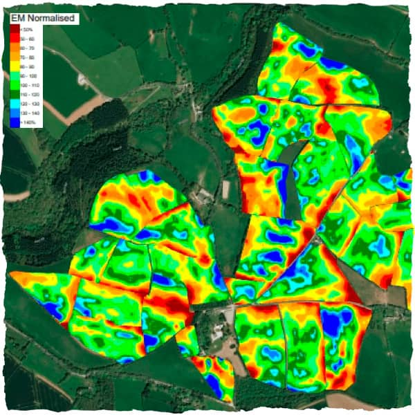 Shallow soil scanning map results