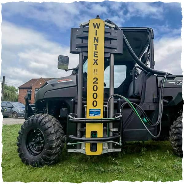 Wintex 2000 soil sampler attached to buggy