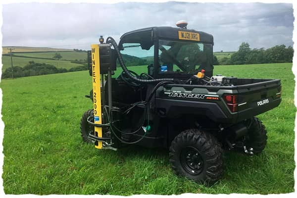 Wintex 2000 soil sampler mounted on a buggy